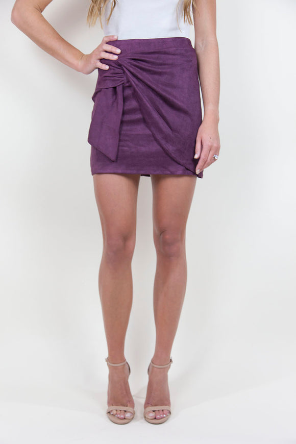 BEND AND SNAP SUEDE SKIRT