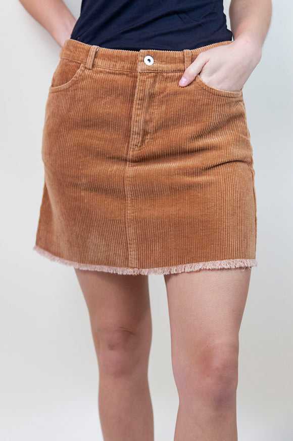 TALK IT OVER CORDUROY SKIRT