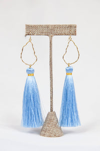 BABY BLUE OYSTER TASSELS