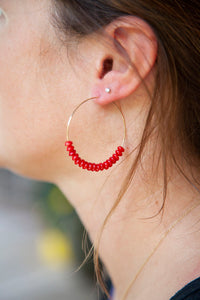 RED CORAL HOOPS