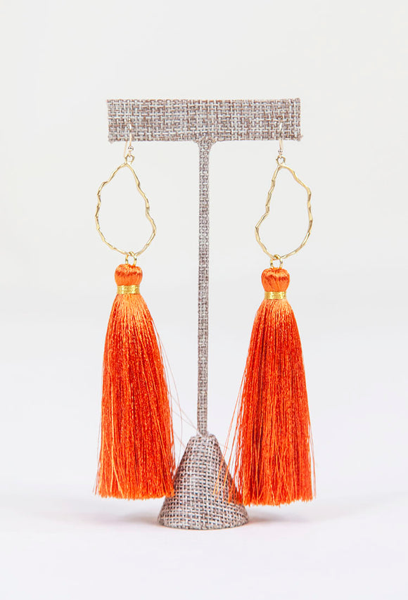 BURNT ORANGE OYSTER TASSELS