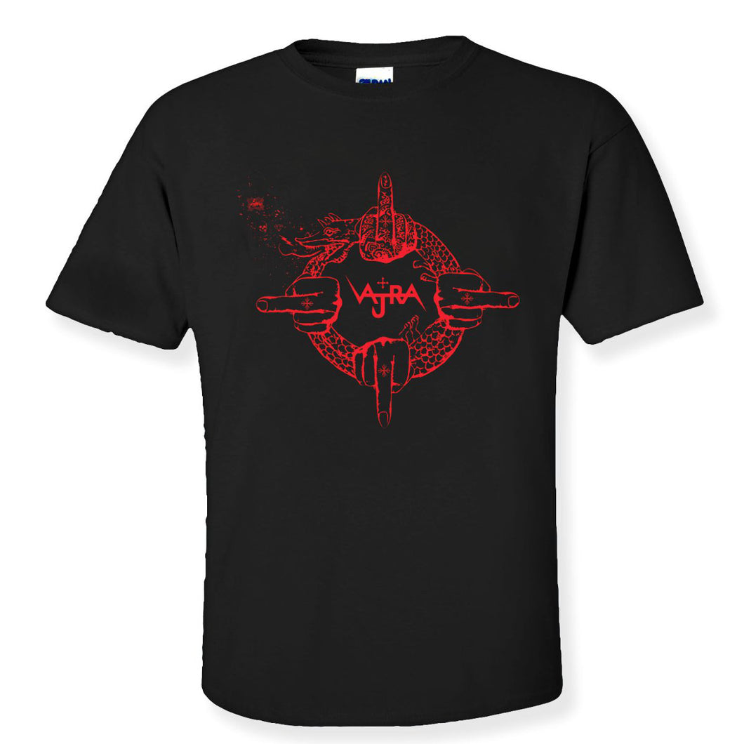 Vajra Red on Black Ouroboros Unisex T-Shirt
