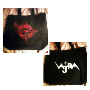 Vajra Double Sided Ouroboros and Logo Tote Bag