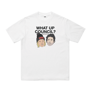 What Up Council T-Shirt | White