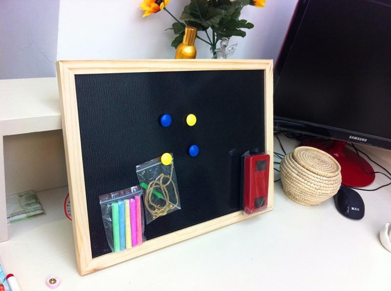 Magnetic Chalkboard in Pine Wood Frame