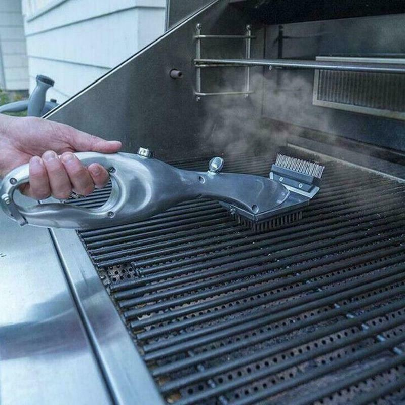 Barbecue Grill Steam Cleaning Brush