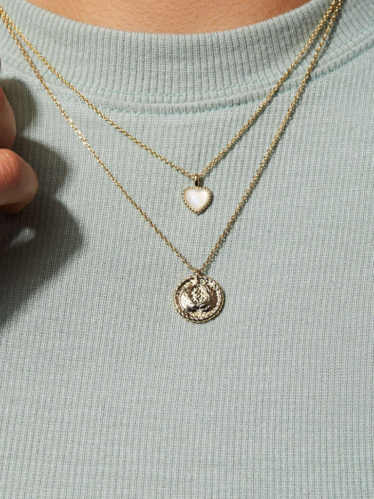 Moonstone Necklace - Heart Moonstone