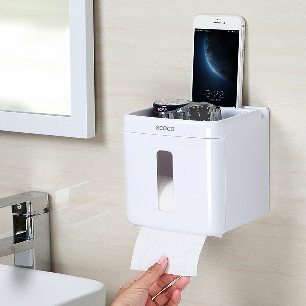 Waterproof Wall  Toilet Paper Holder Shelf, Toilet Paper Tray Roll Paper