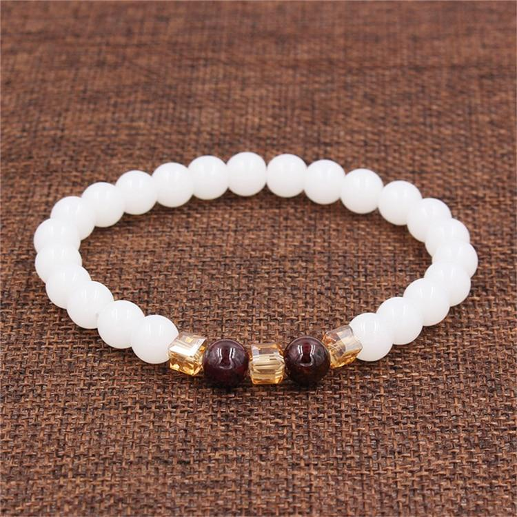 Natural White Chalcedony Positivity Bracelet
