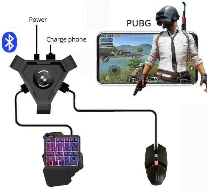 Mobile Gamepad Controller Smartphone Gaming Mouse And Keyboard Set | Plug And Play