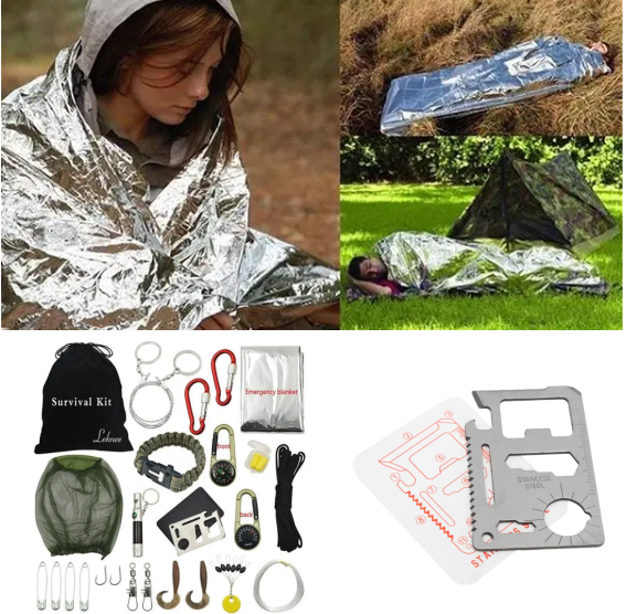 iSurvive™ Emergency Survival Tool Set Equipment Gear Kit