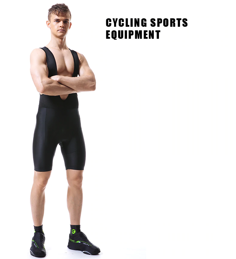 Men Coolmax Gel Padded Cycling Bib Shorts