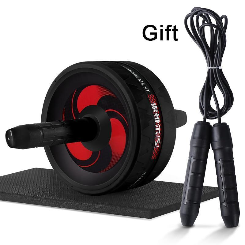 2 in 1 Ab Roller&Jump Rope No Noise Abdominal Wheel Ab Roller with Mat