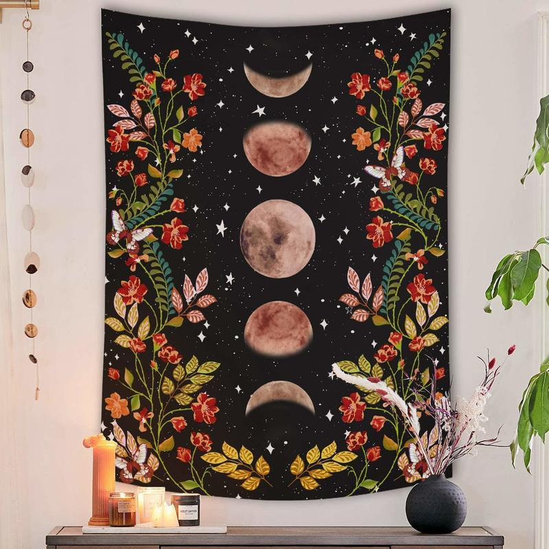 Moon Phase Garden Tapestry