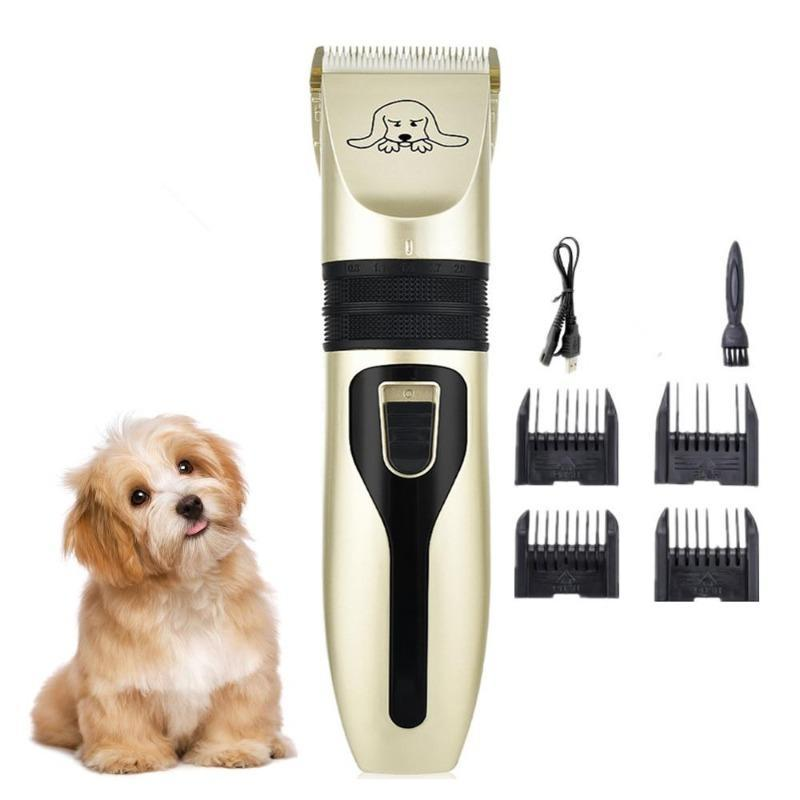 Rechargeable Dog Hair Cutter, Cat Shaver, Grooming Clippers, Haircut Trimmer