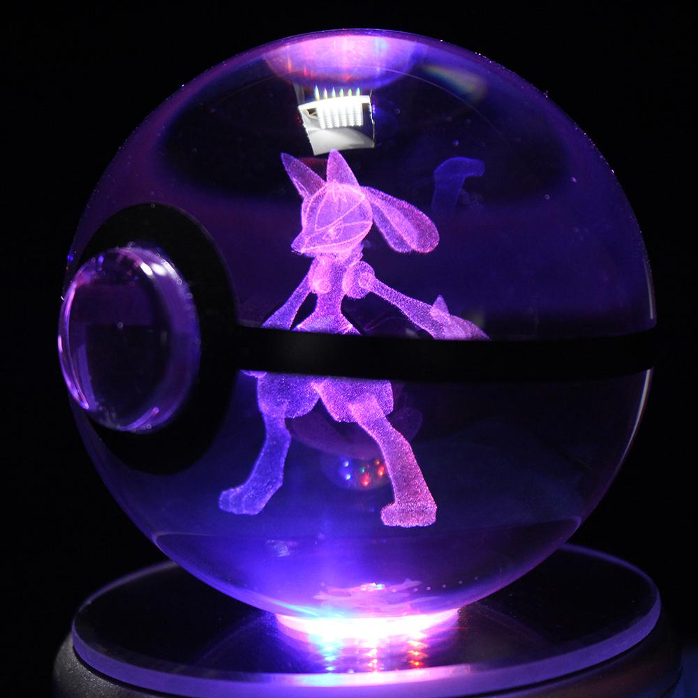 Lucario LED Crystal Pokéball