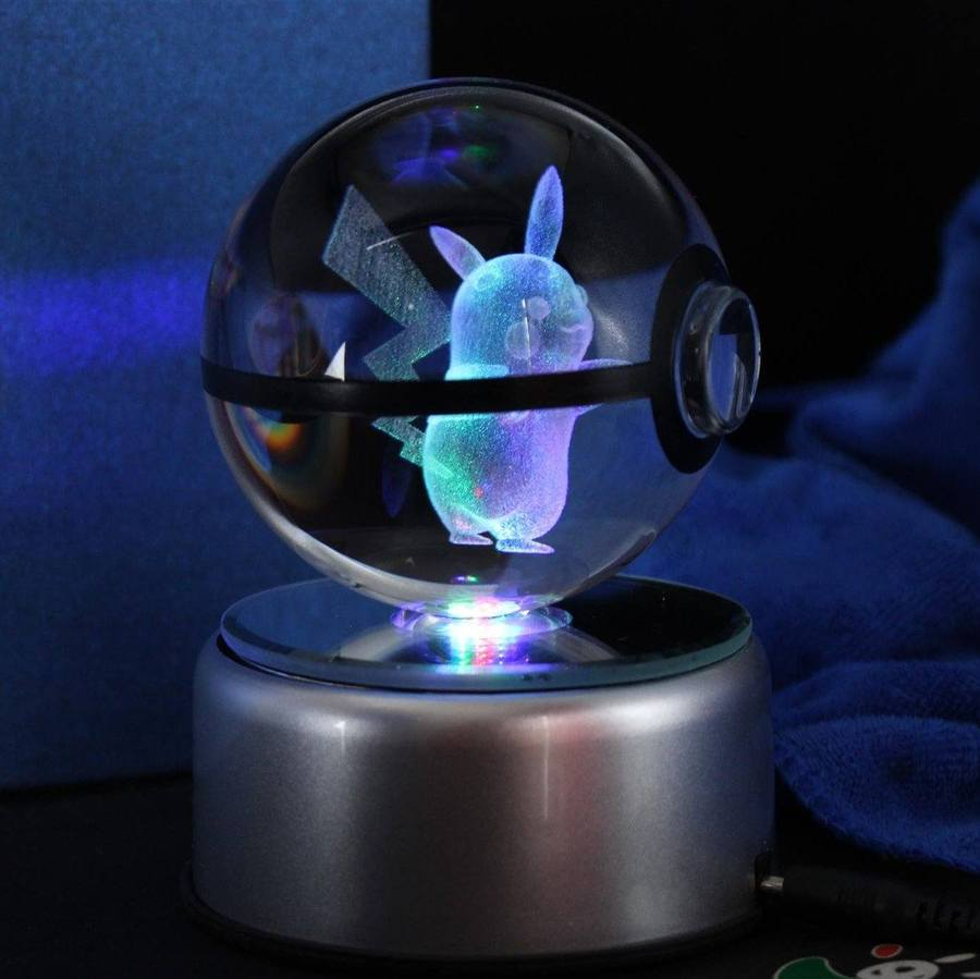 Pikachu LED Crystal Pokéball