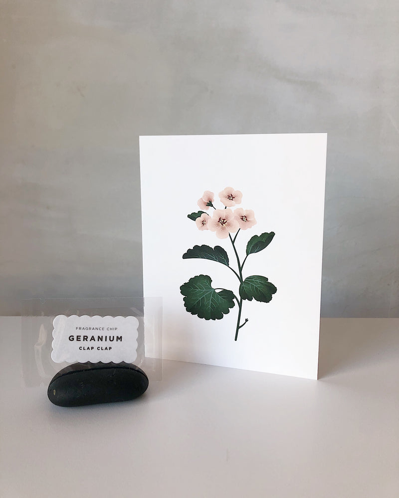 Botanical Scented Card - Geranium
