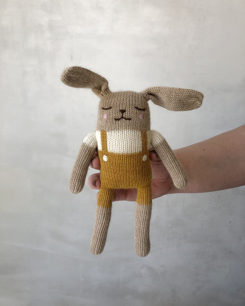 Bunny Knit Toy / Mustard
