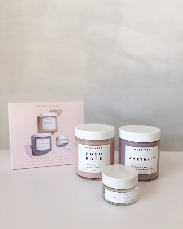 Exfoliate + Glow Head-to-Toe Self Care Trio