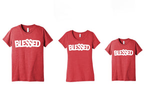 RED TRIBLEND BLESSED YOUTH TEE