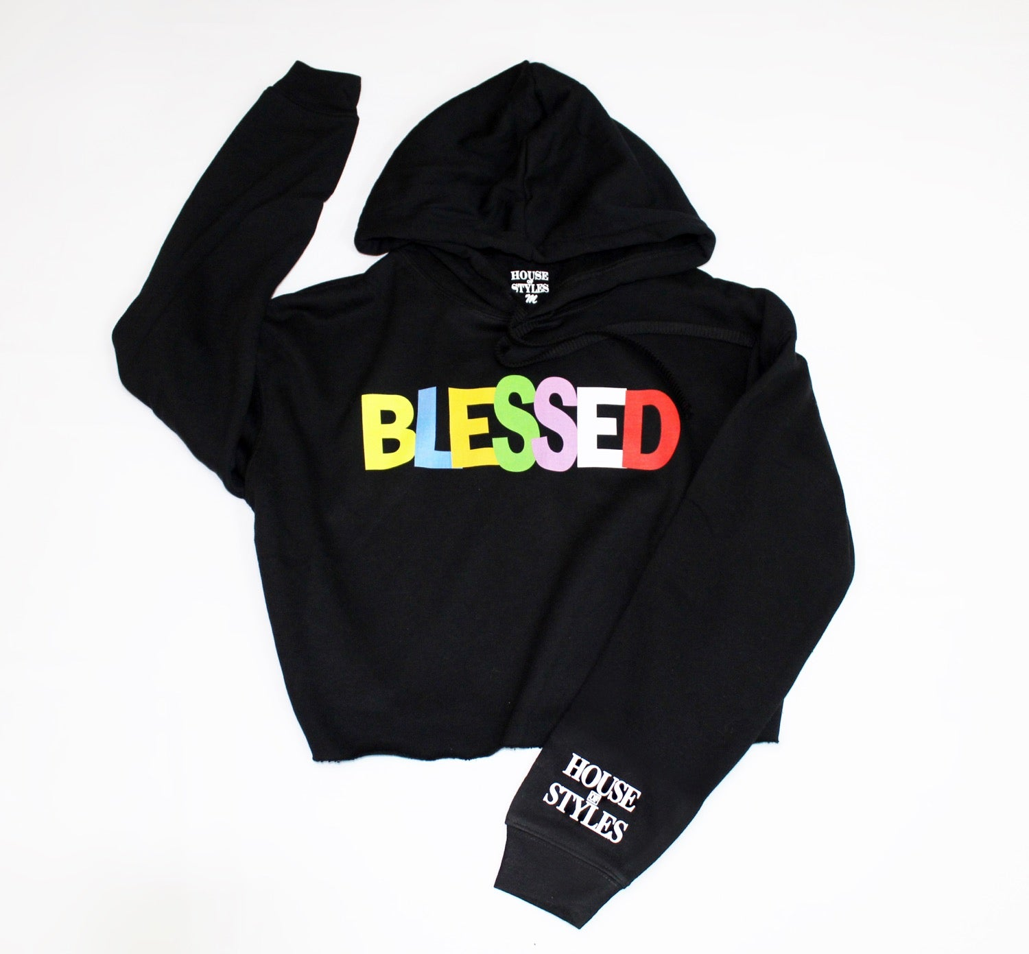 BLESSED CROP TOP COLORWAY HOODIE