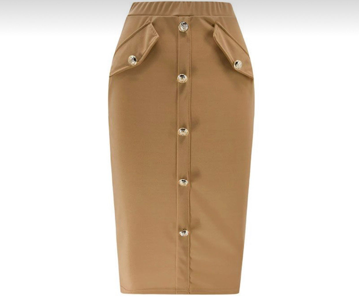 Kandice Khaki High waisted skirt