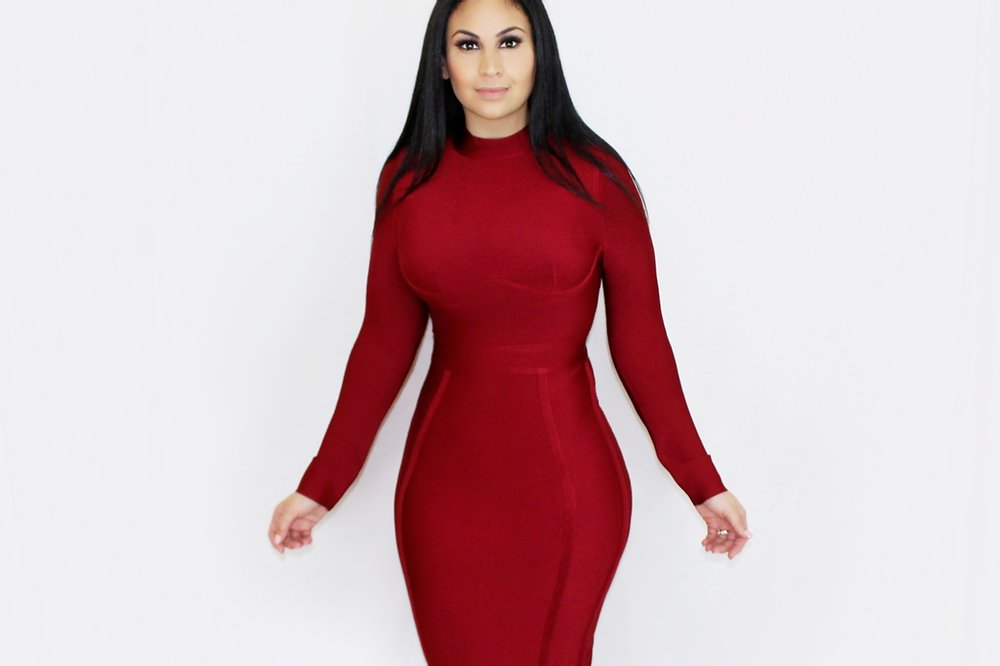 Fine Like Wine Bandage Midi Dress