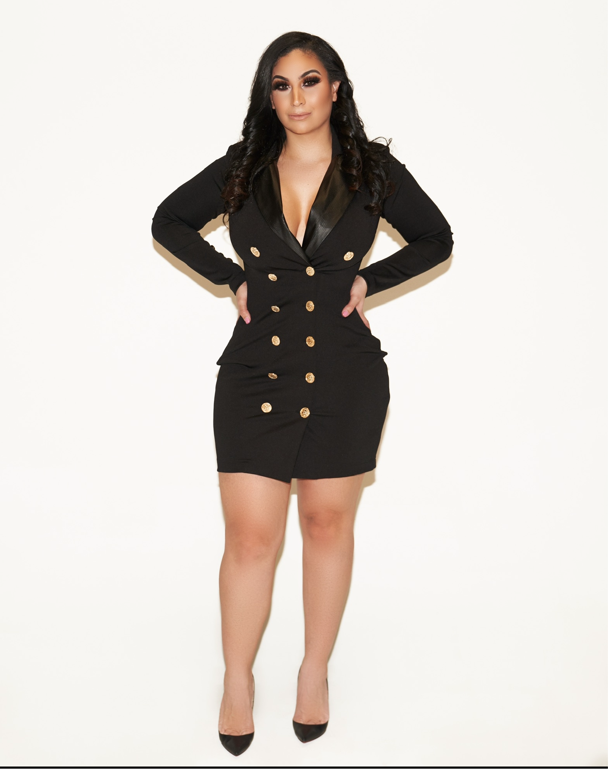 Making Money Moves Black Blazer Dress