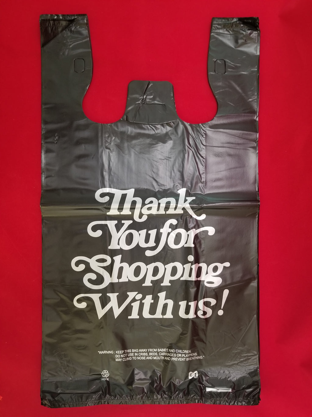 Large Thank-You T-Shirt Shopping Bag (Standard)