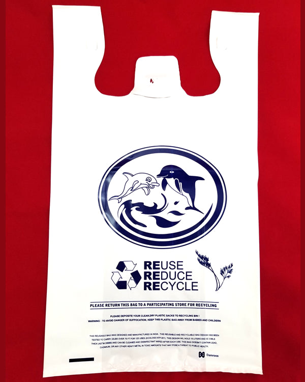 Reusable Heavy-Duty Plastic-Shopping Bags