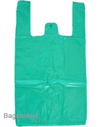 "Medium, 10""Wx5""Dx18""H, Brown Plastic Shopping Bag"