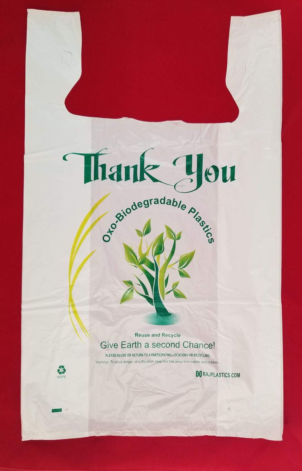 XL Oxo-Biodegradable Plastic Shopping Bags