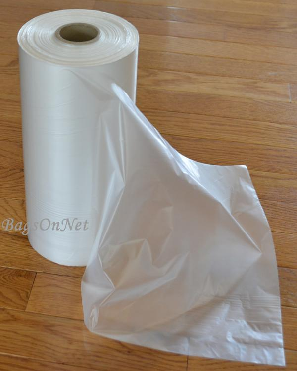 "Clear Bags on Roll - 10"" W x 15"" H"