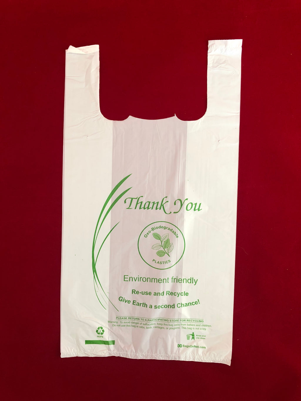small oxo-biodegradable shopping bag