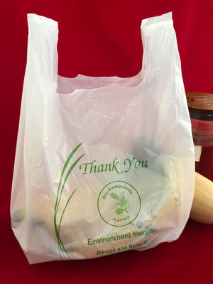 Small Oxo-Biodegradable Plastic Shopping Bags
