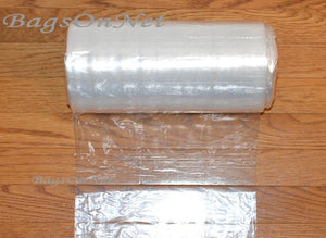 "Clear Bags on Roll with Ties - 6.5"" W x 8"" H"
