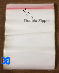 "2 Gallon,Freezer Double Zip Bags,13x15.7"", 2.7 MIL"