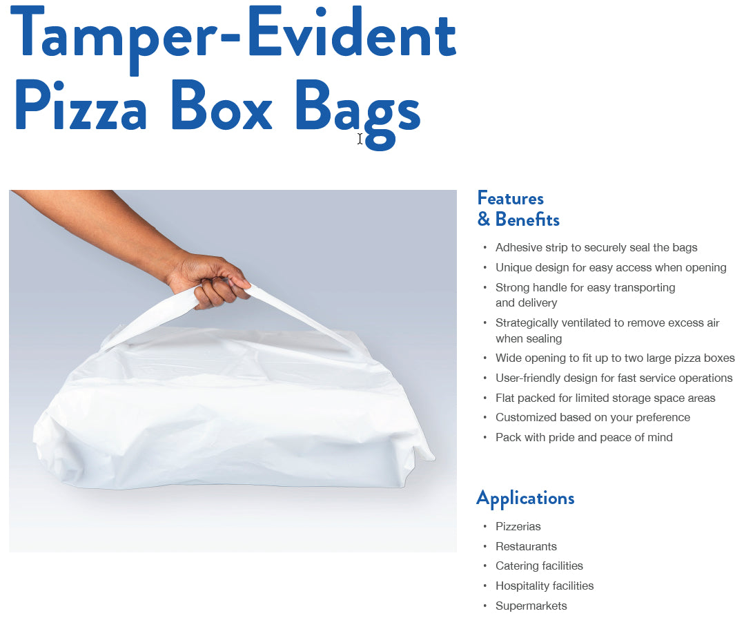 Tamper-Proof Pizza Delivery Bags