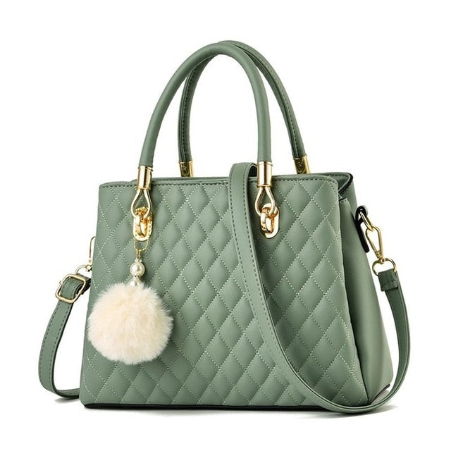 Green Luxury Tote Hand Bag