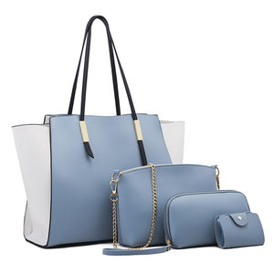 Blue Large Tote Bag Plus 4 Piece Set