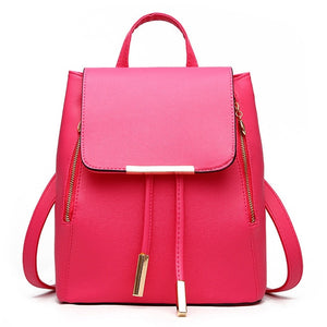 Citron Leather School Backpack