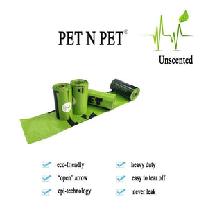 Unscented, Earth-Friendly, Biodegradable Dog Poop Bags - 24/48 Rolls