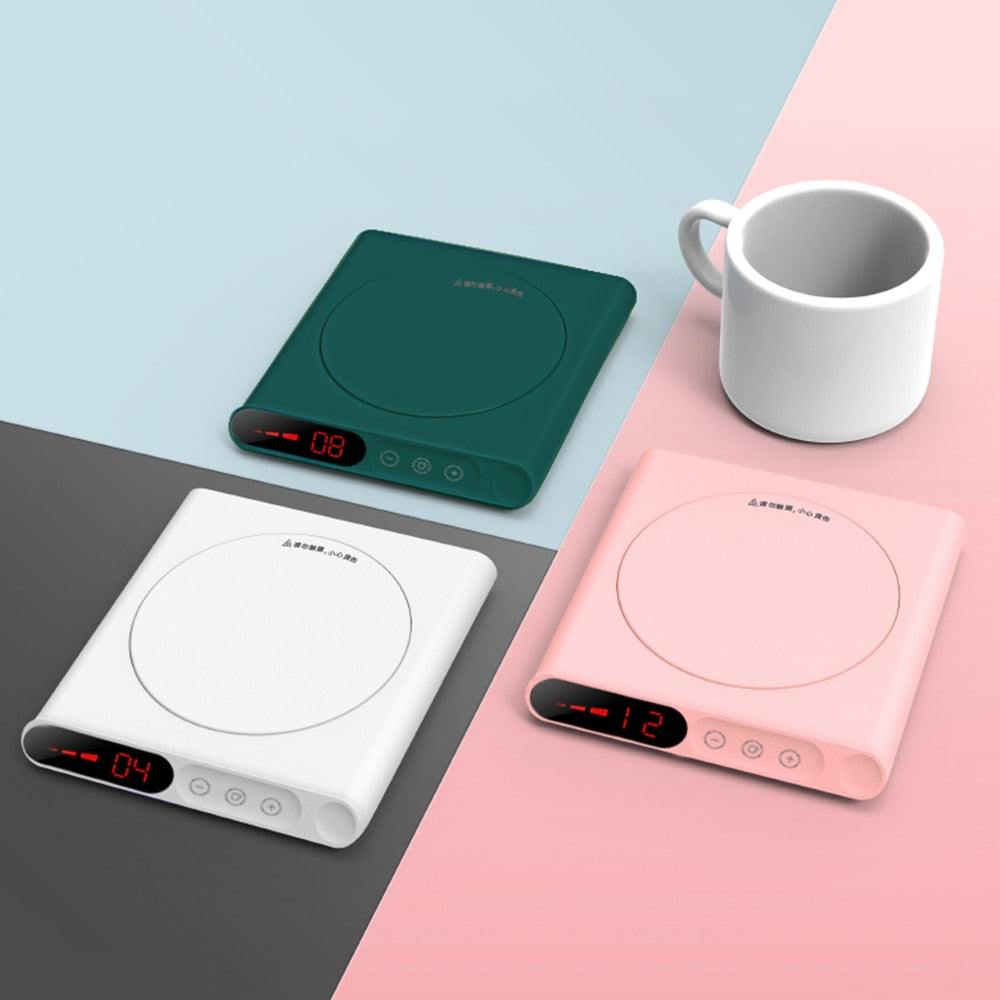3Life Mini Heating Coasters Heating USB Electric Tray Coffee Tea Drink Warmer 3 Levels Adjustment Constant Smart Home Product