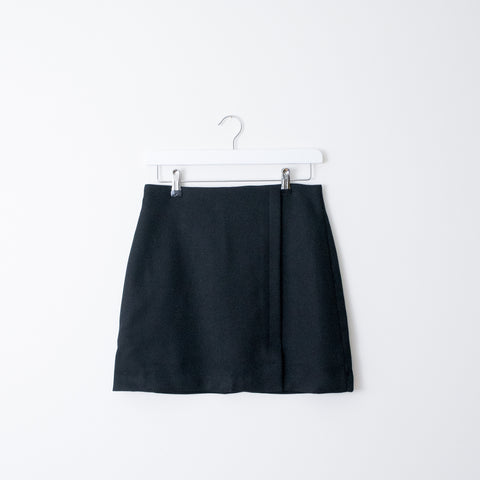 Textured Black Pencil Skirt - house of petite