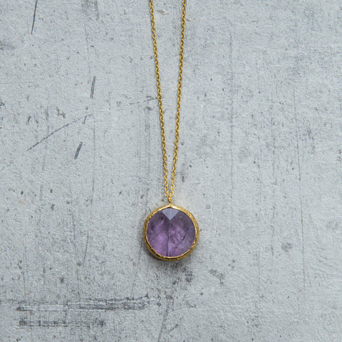 light amethyst druzy necklace - house of petite
