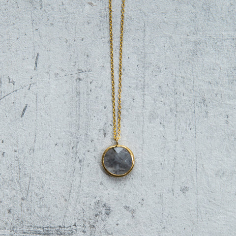 labradorite druzy necklace - house of petite