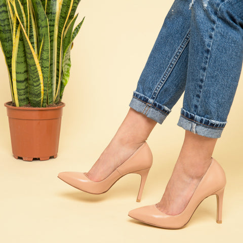 nude courts small size heels UK 34 house of petite