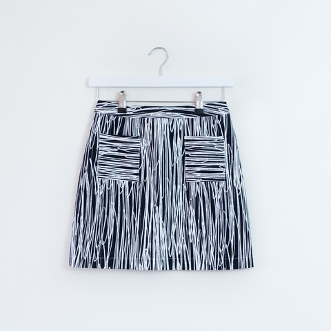 Scribble Print Petite Skirt - Libe Workshop