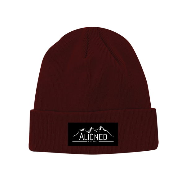 Aligned Patch Toque - Zinfandel - Aligned Apparel